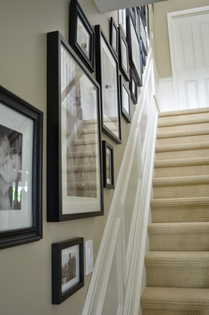 How To Create a Stairway Gallery Wall