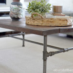 DIY Rustic Industrial Pipe Coffee Table