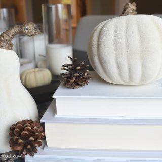Simple DIY White Pumpkins