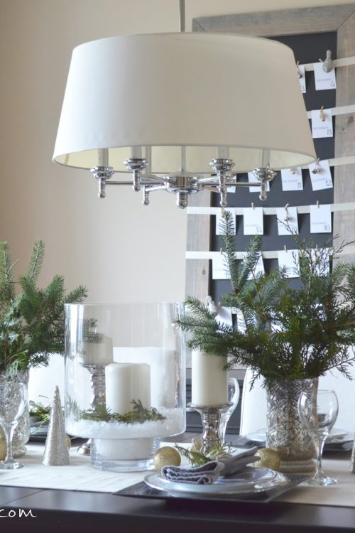 A Wintry Christmas Tablescape
