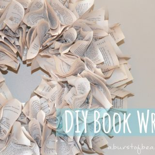 DIY Book Wreath