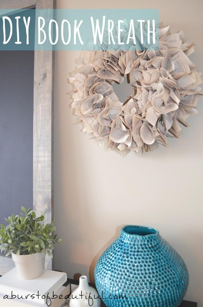 DIY Book Wreath