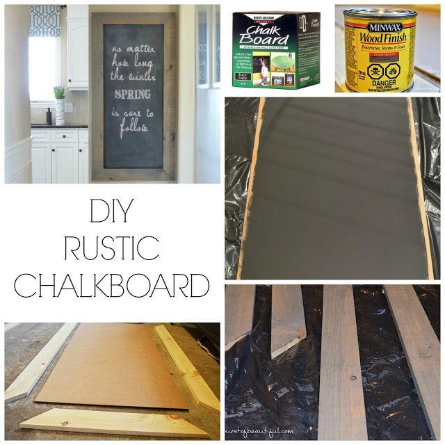 DIY Rustic ChalkboardA Burst of Beautiful