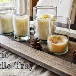DIY Rustic Candle Tray
