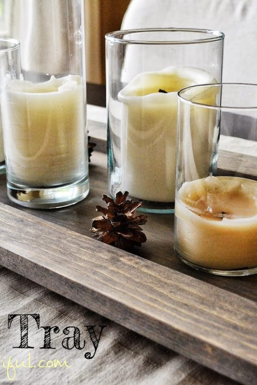 DIY Rustic Candle Tray