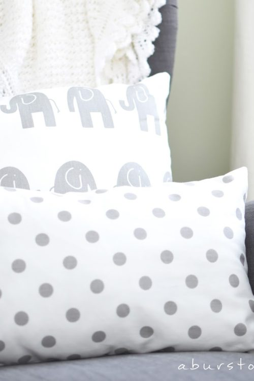 Easy Sew Pillows and Nursery Sneak Peek
