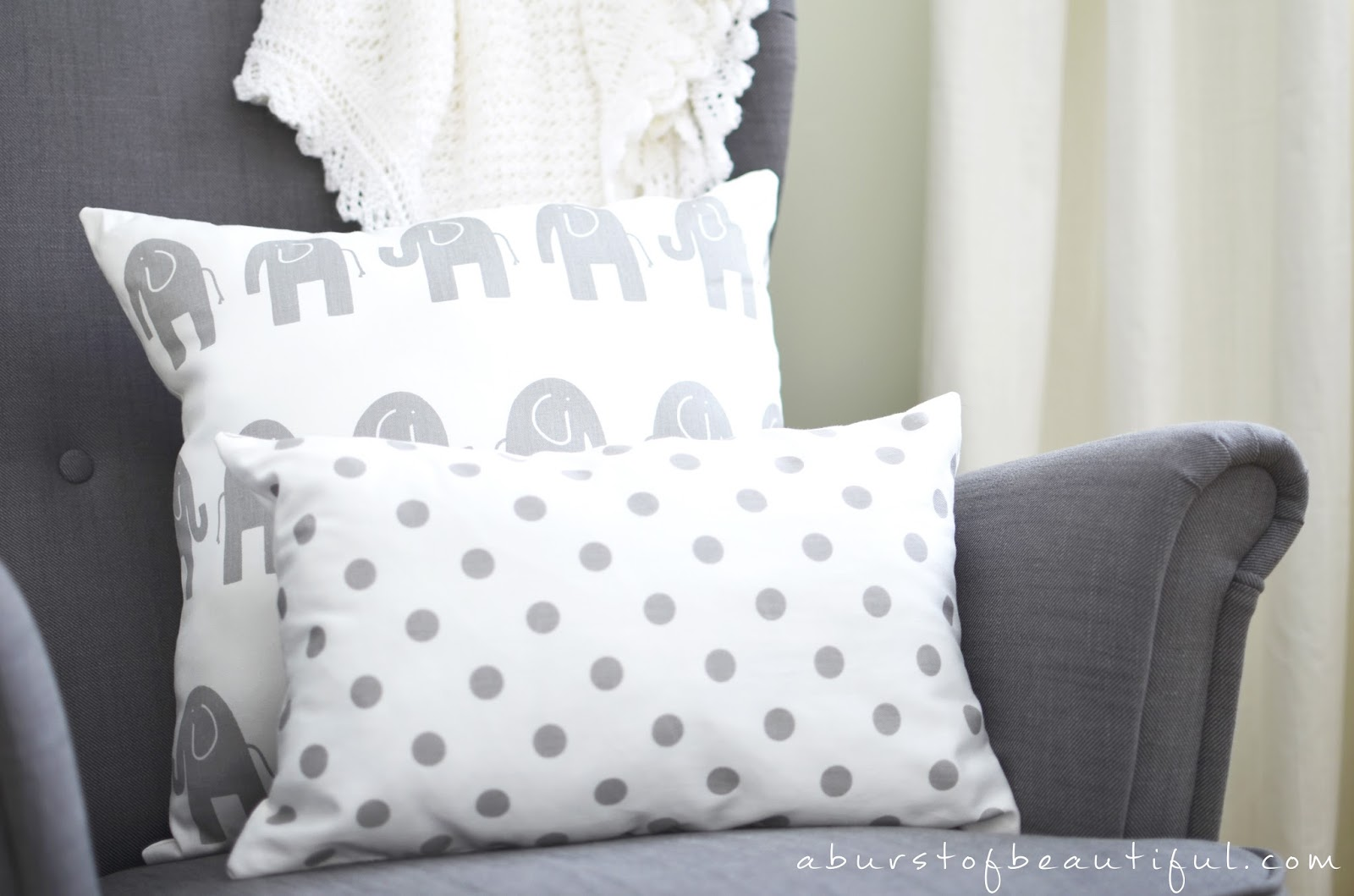 A Burst of Beautiful - Easy Sew Pillow Tutorial