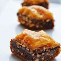 Nutella and Peanut Butter Baklava
