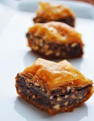 Nutella and Peanut Butter Baklava