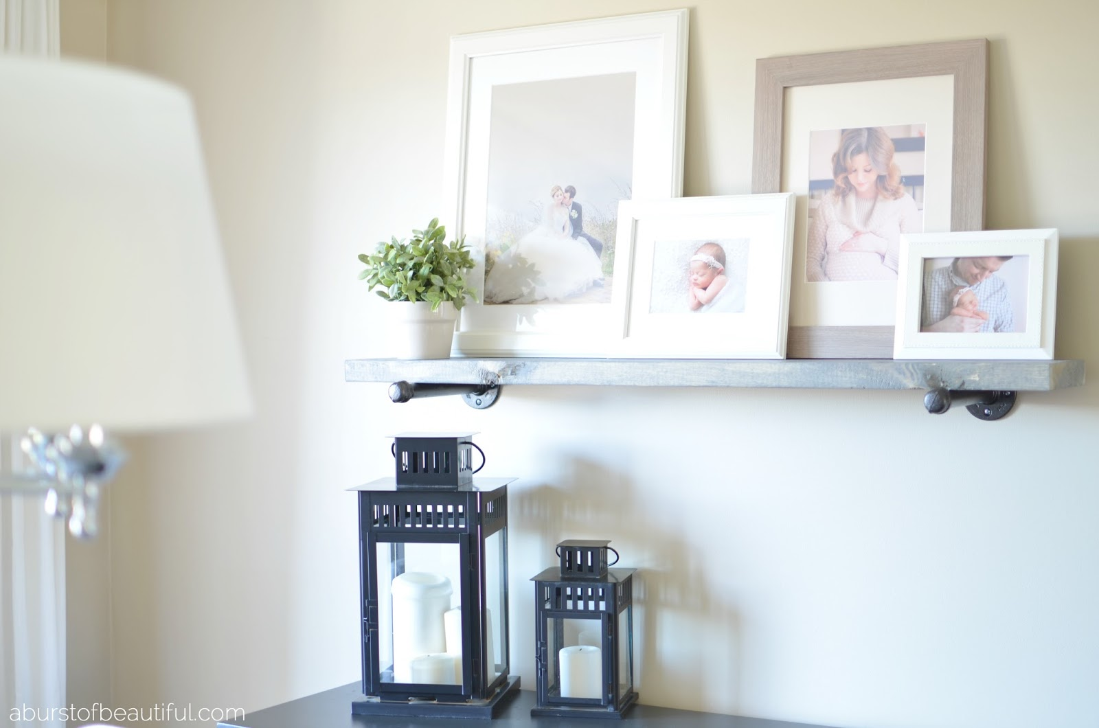 A Burst of Beautiful - DIY Industrial Shelf
