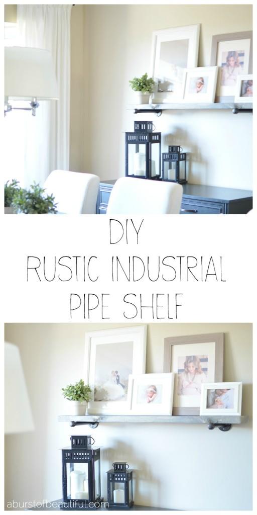 DIY Rustic Industrial Shelf