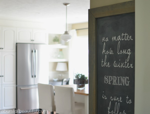 DIY Perfect Chalkboard Lettering