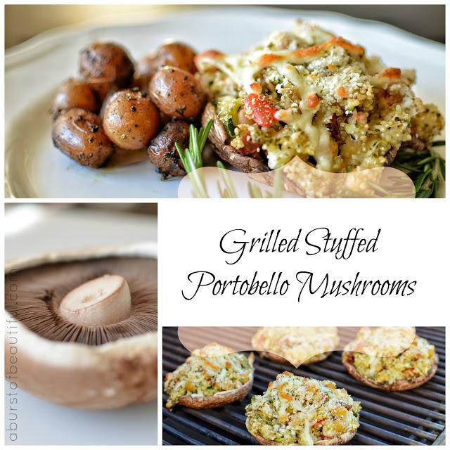 Grilled Stuffed Portobello Mushrooms - A Burst of Beautiful