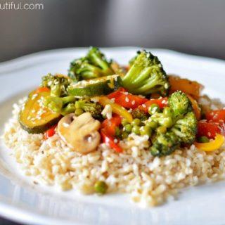 Sesame Teriyaki Vegetable Stir Fry