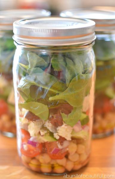 Layered Greek Chickpea Salad