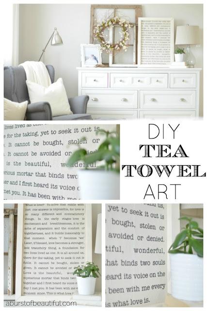 DIY Tea Towel Art