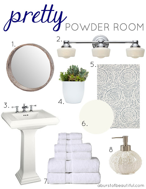 Pretty powder room a burst of beautiful Pretty powder room ideas