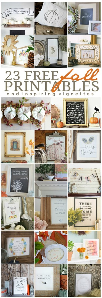 Be Thankful Printable and Fall Vignette