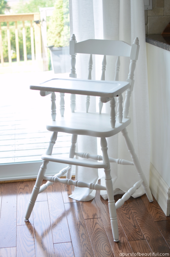 Painted Vintage Highchair