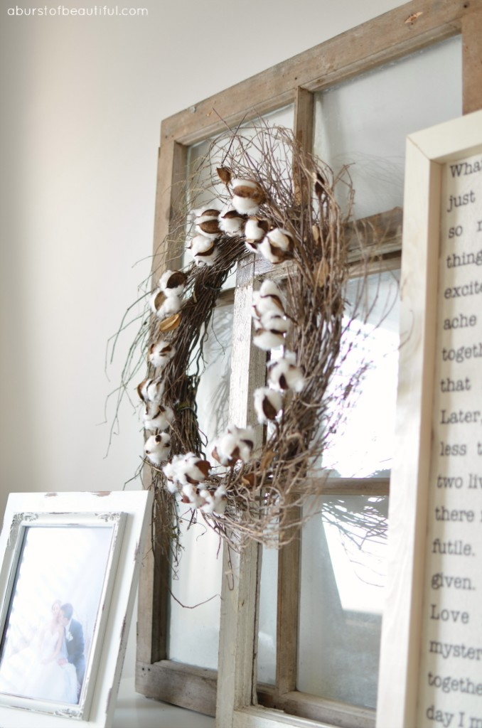 So once i had decided on a diy cotton wreath i headed back to michaels