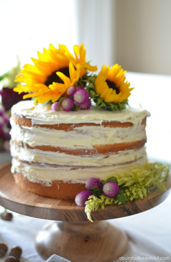 Fall Naked Cake - A Burst Of Beautiful-7747