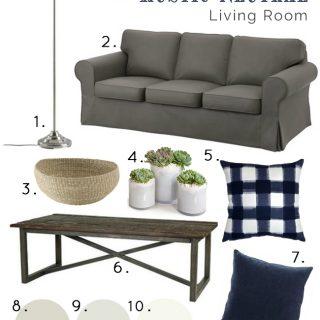 Rustic Neutral Living Room
