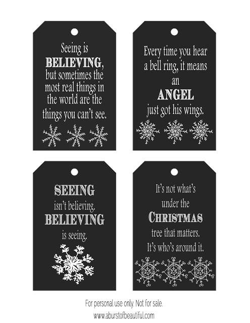 Chalkboard Christmas Tags {FREE Printable}