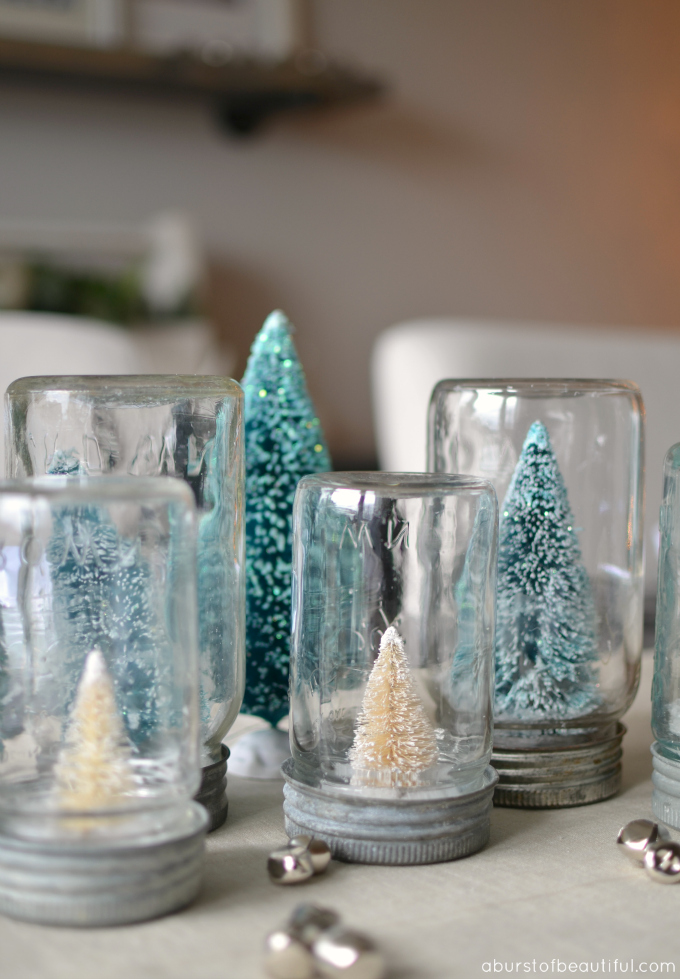 Bottle Brush Christmas Tree Snow Globe Tutorial A Burst