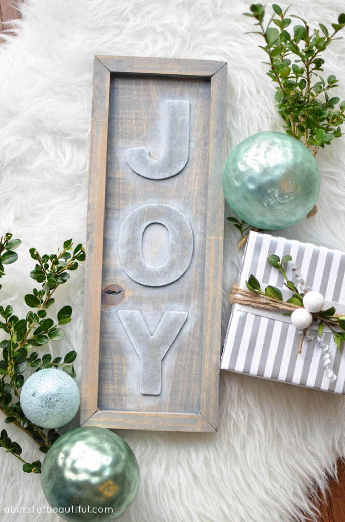 DIY Rustic Joy Sign3