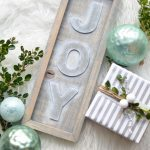 DIY Rustic Wood Joy Sign