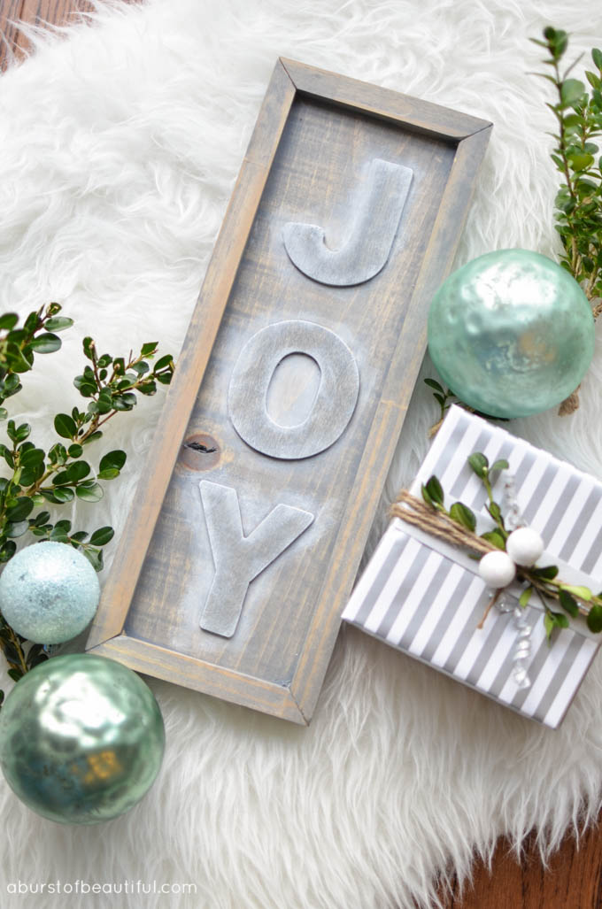 DIY Rustic Joy Sign5