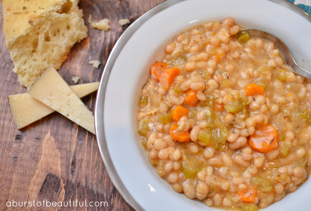 Slow Cooker Navy Bean Soup