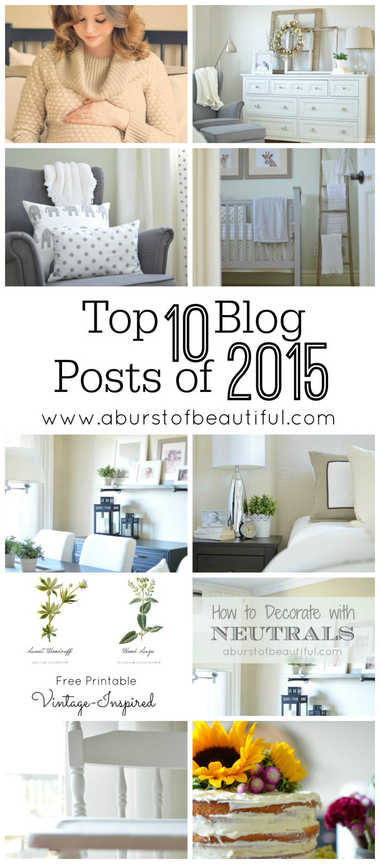 A Burst of Beautiful - Top 10 Blog Posts of 2015