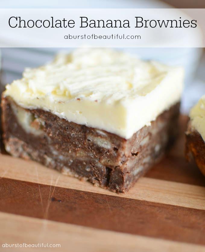Chocolate Banana Brownies - A Burst of Beautiful