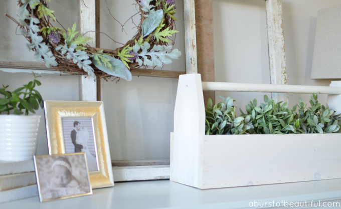 A Burst of Beautiful - DIY Vintage-Inspired Toolbox