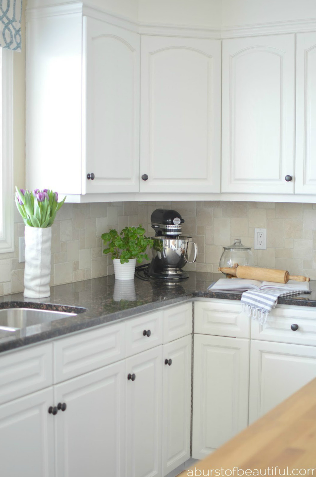 How to Paint Kitchen Cabinets - A Burst of Beautiful