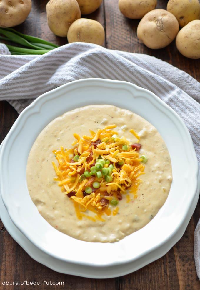 The Best Loaded Potato Soup - A Burst of Beautiful