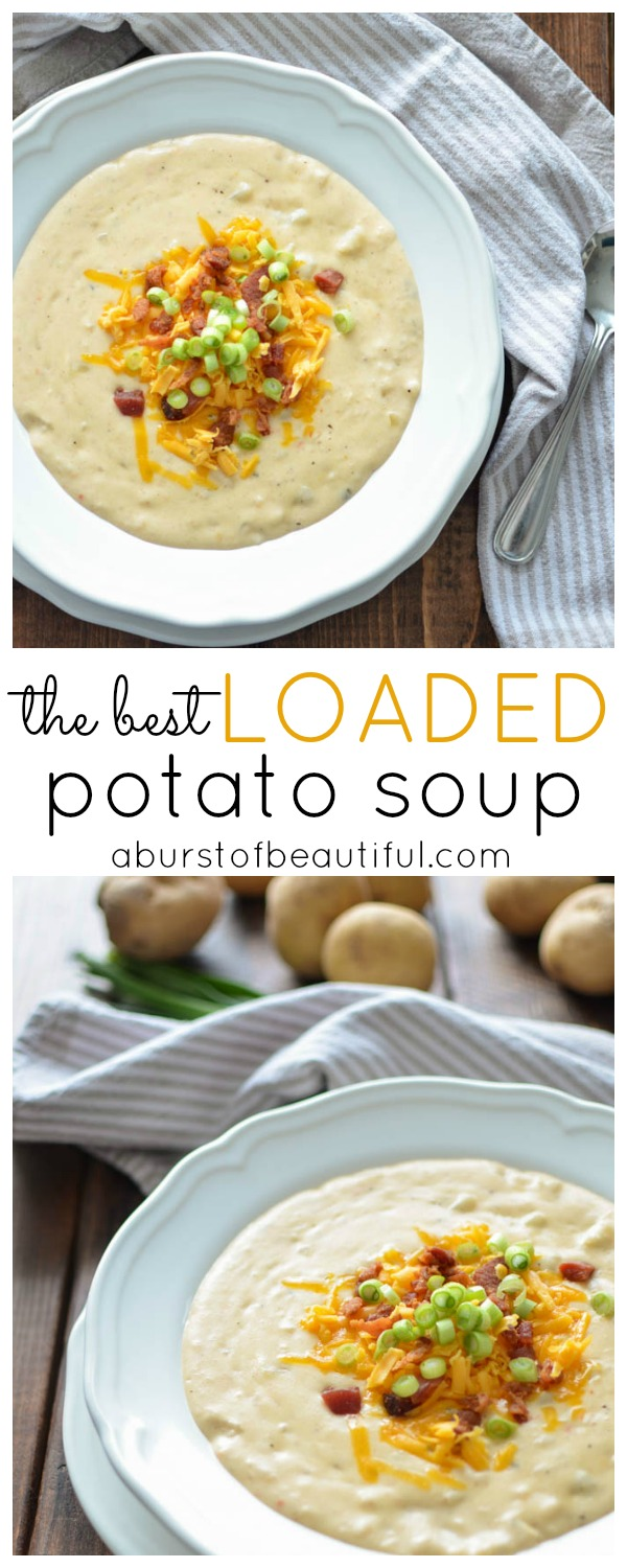 The Best Loaded Potato Soup - A Burst of Beautiful
