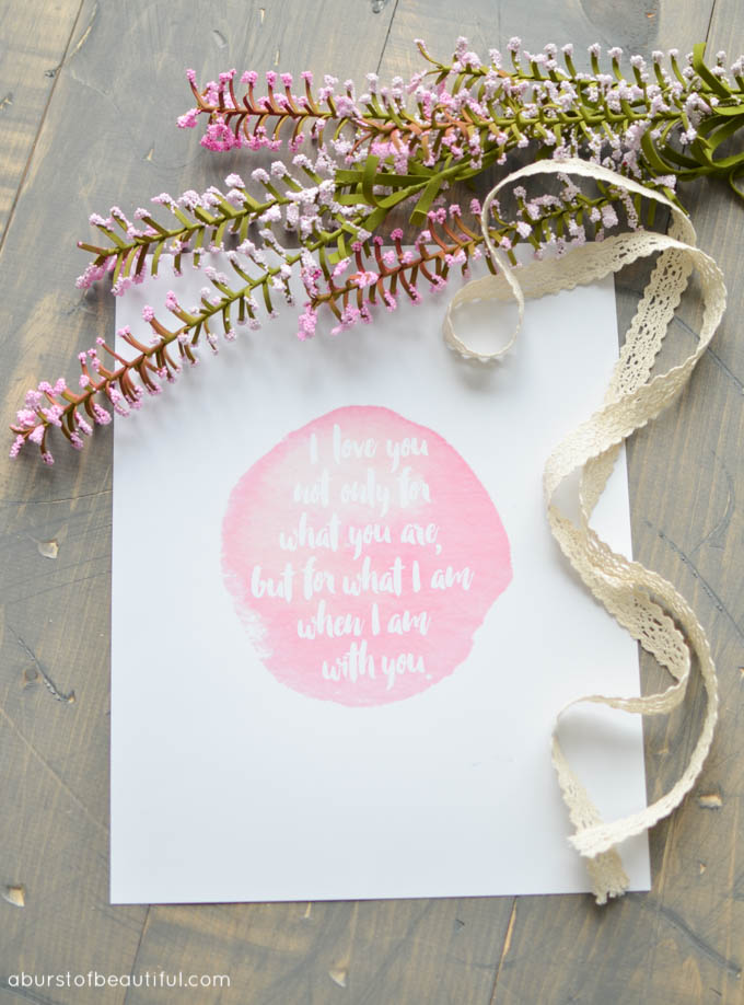 Valentine's Day I Love You Printable - A Burst of Beautiful