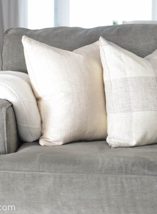 How to Sew a Zippered Pillow Cover