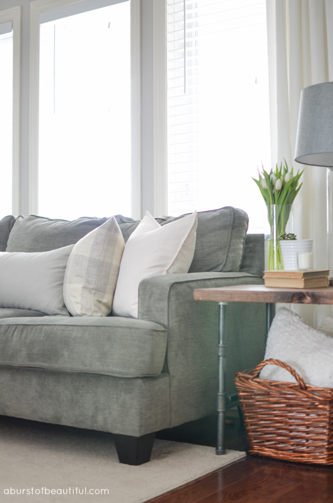 Bright and Neutral Living Room and Dining Room - A Burst of Beautiful