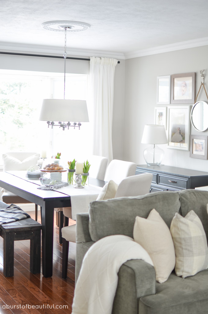Living Room Dining Room Makeover A Burst Of Beautiful