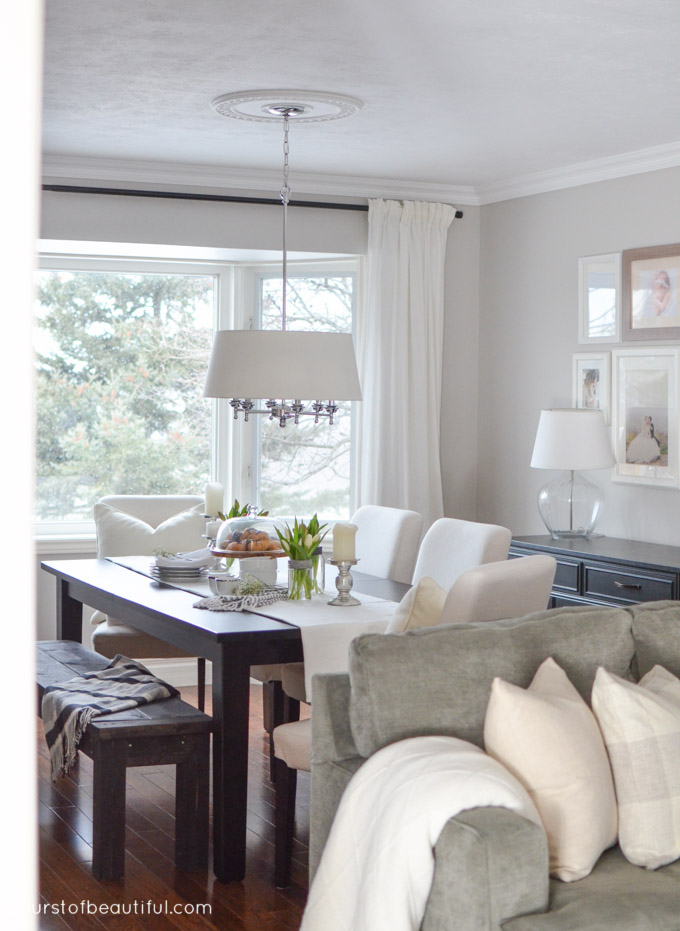 Bright And Neutral Living Room Dining