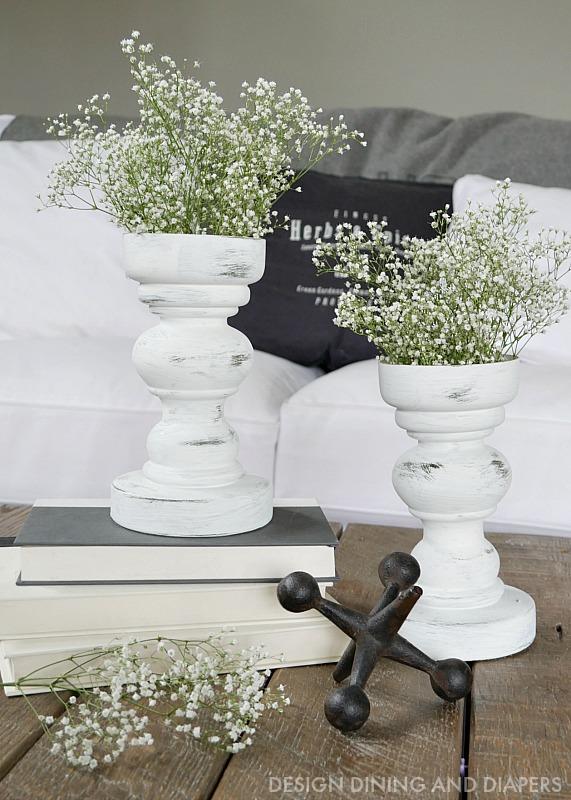 Trash to Treasure - Pedestal Vase Makeover