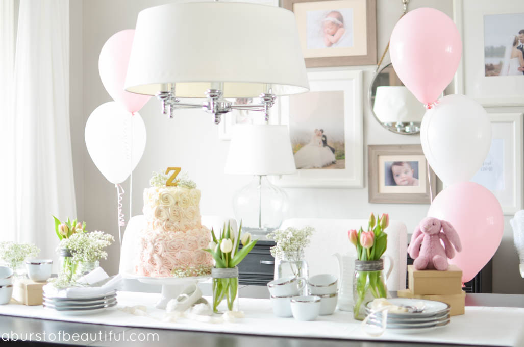Pink & Gold Vintage First Birthday Party
