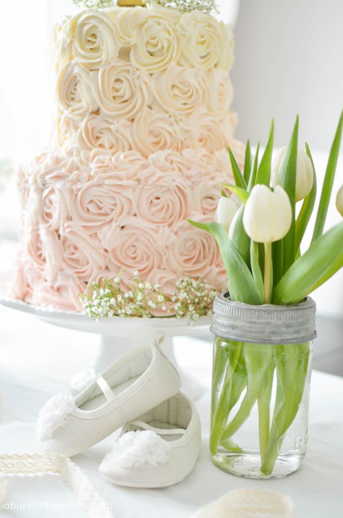 Ombr 233 Rosette Cake Tutorial A Burst Of Beautiful