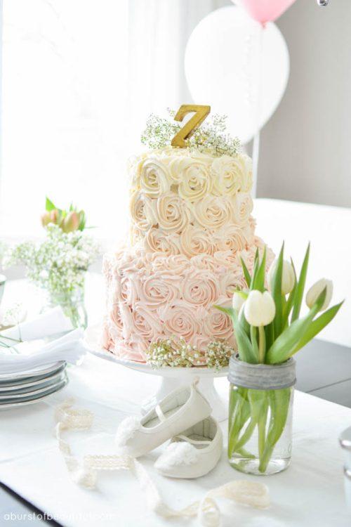 Ombré Rosette Cake Tutorial