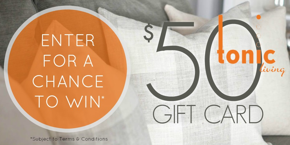 Enter for your chance to win a $50 Tonic Living Gift Card | A Burst of Beautiful