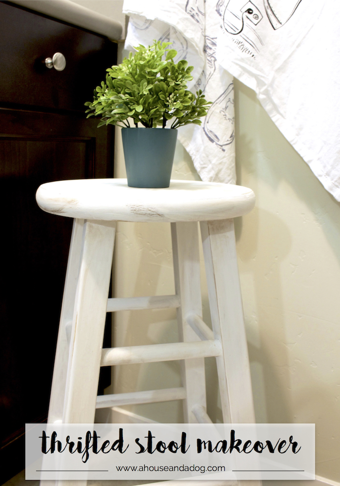 Trash to Treasure - Thrifted Stool Makeover