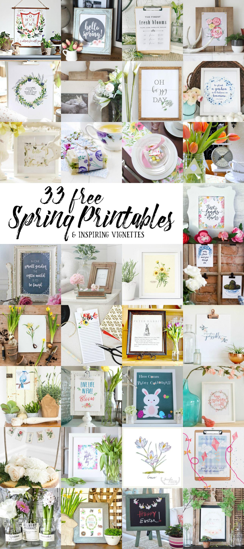 33 Free Beautiful and Inspiring Spring Printables | A Burst of Beautiful